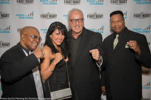 Aaron Pryor, Mia St. John, GerryCooney and Larry Holmes