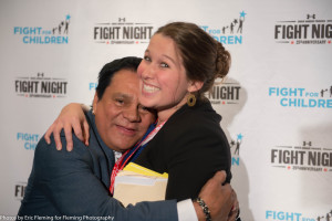 Roberto Duran and Becky Brant from Qorvis MLSGROUP